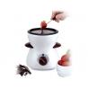 Fondue Eléctrica de Chocolate Silvano con 4 tenedores
