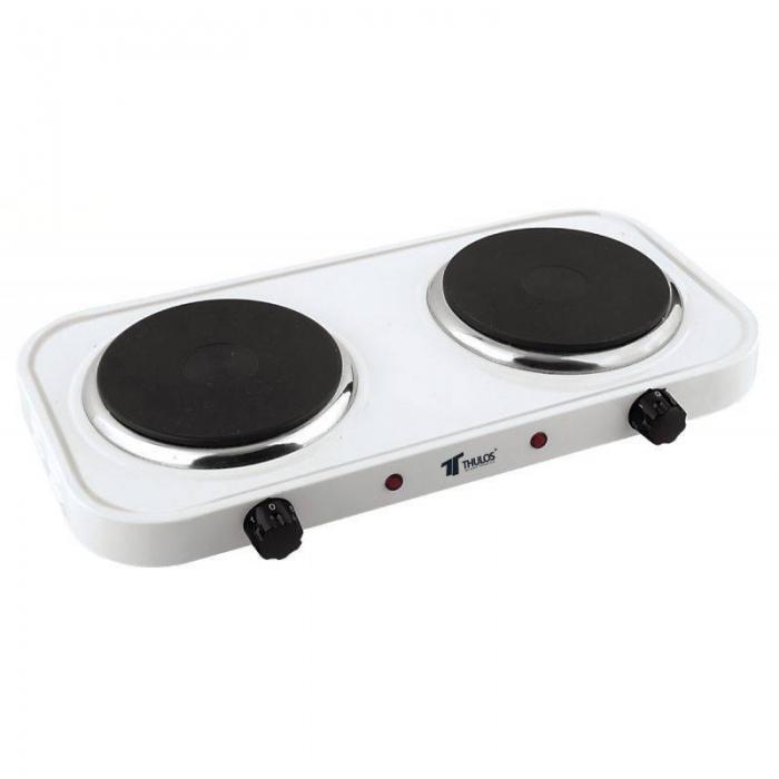 Cocina el ctrica portatil 2 fuegos th ce2000 2p for Cocina electrica portatil