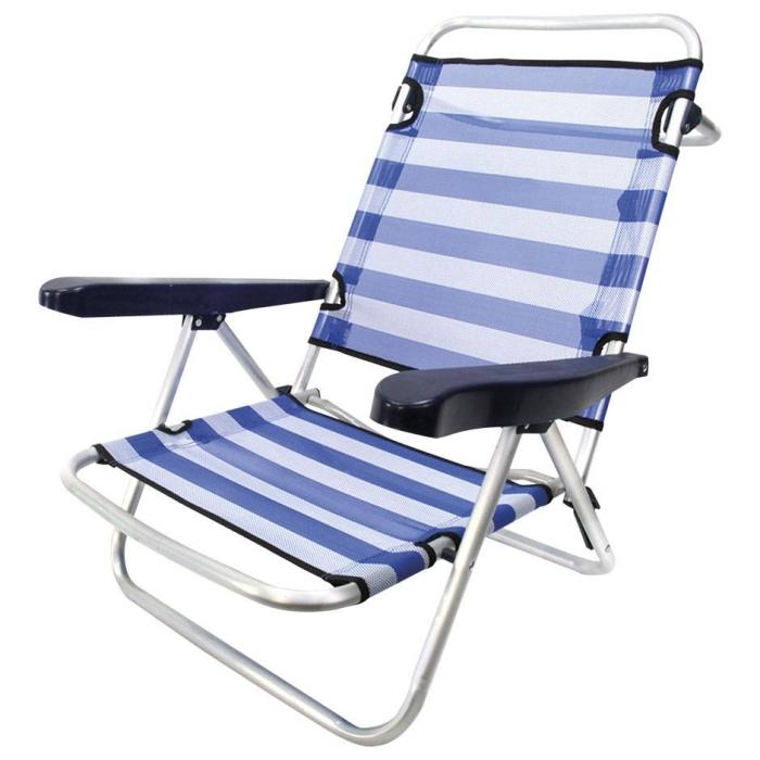 comprar silla de playa 4 posiciones aluminio