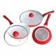 Conjunto Sartenes de Ceramica con Tapa 5 piezas