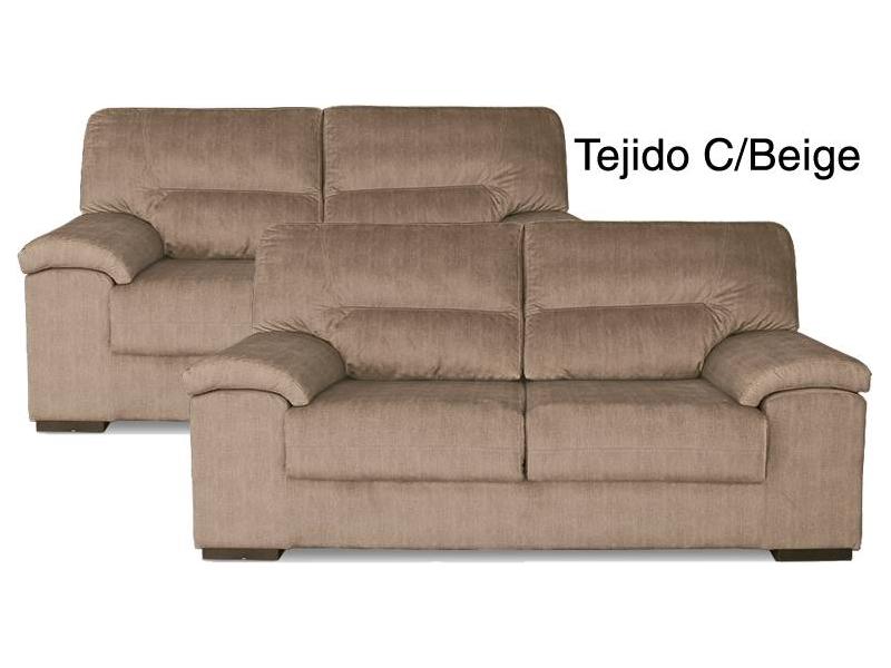 Conjunto sof s premium 3 2 plazas tela antimanchas artesanal - Sofas de tela ...