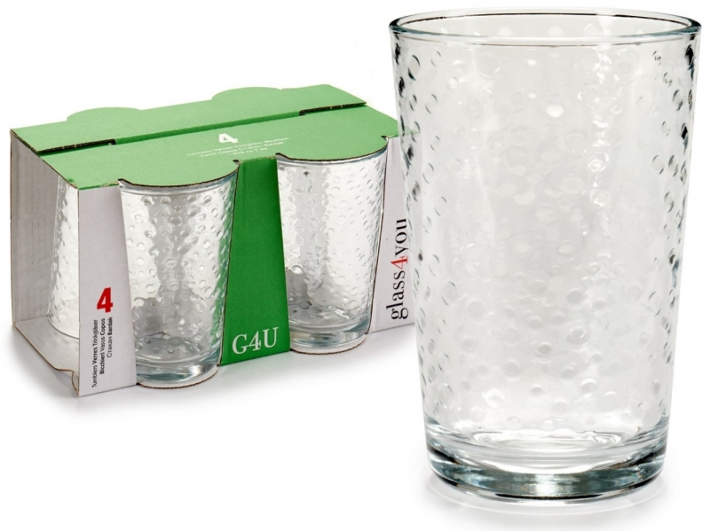 Set 4 vasos de agua 21 CL