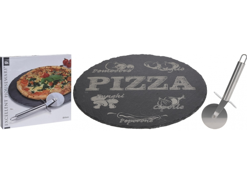 Set para pizza de pizarra 30CM