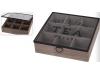 Caja 9 compartimentos madera blanca te
