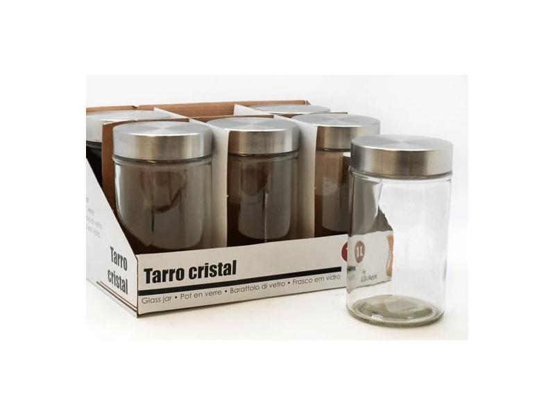 Tarro Cocina Cristal Tapa Acero