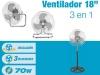 """Ventilador Industrial 18"""" 3 en 1 Dugan FS45"""