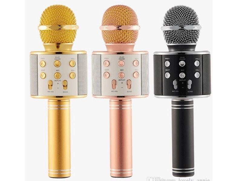 Micrófono Karaoke Metálico Redondo