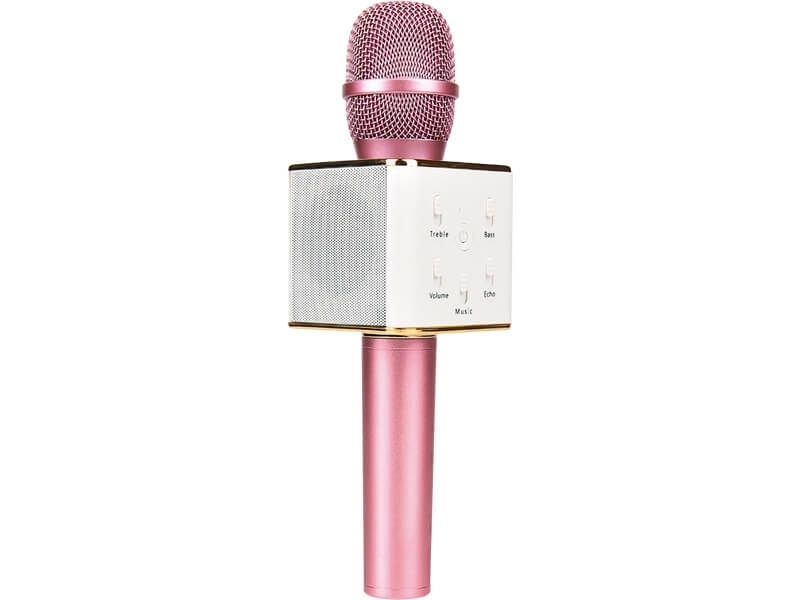 Micrófono Karaoke Metálico Cuadrado