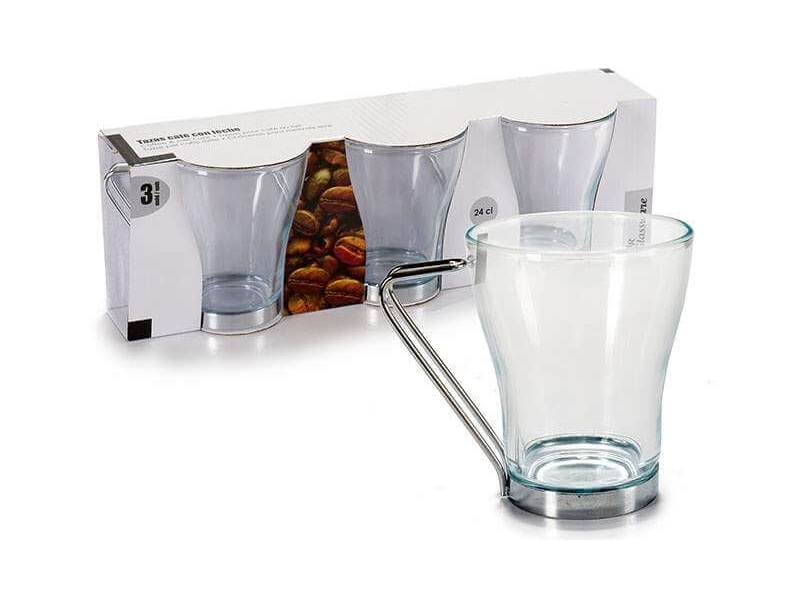 Juego 3 tazas caf 24 cl menaje cocina for Juego tazas cafe