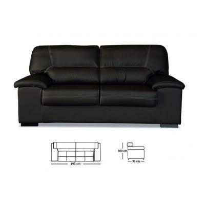 Comprar sof premium 3 plazas piel sint tica for Sofa 7 plazas piel