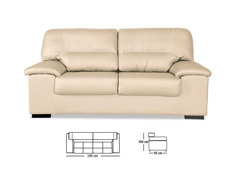 Sof artesanal premium 3 plazas piel sint tica y for Ofertas de sillones y sofas