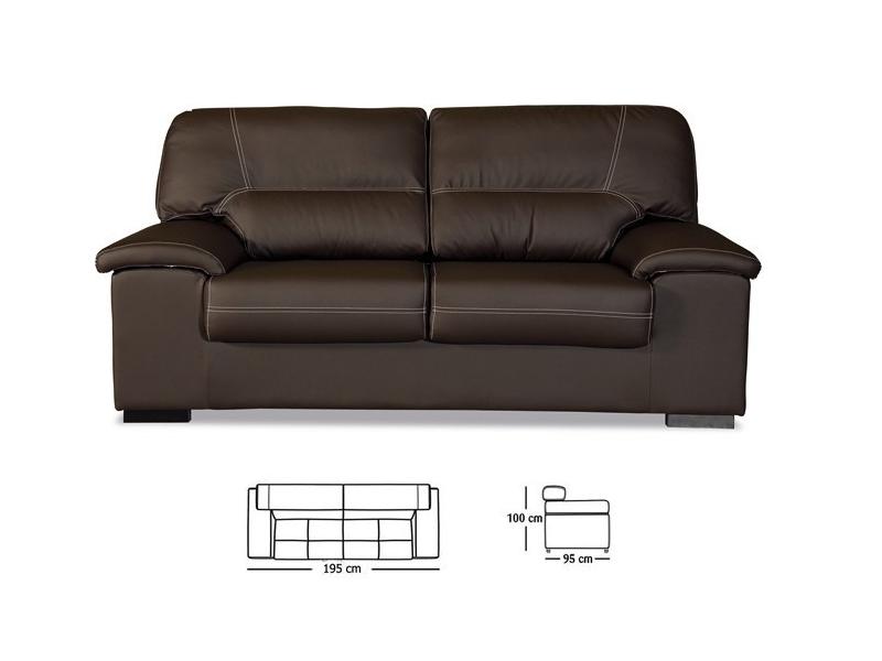 Sof artesanal premium 3 plazas piel sint tica y for Precios de sofas de piel