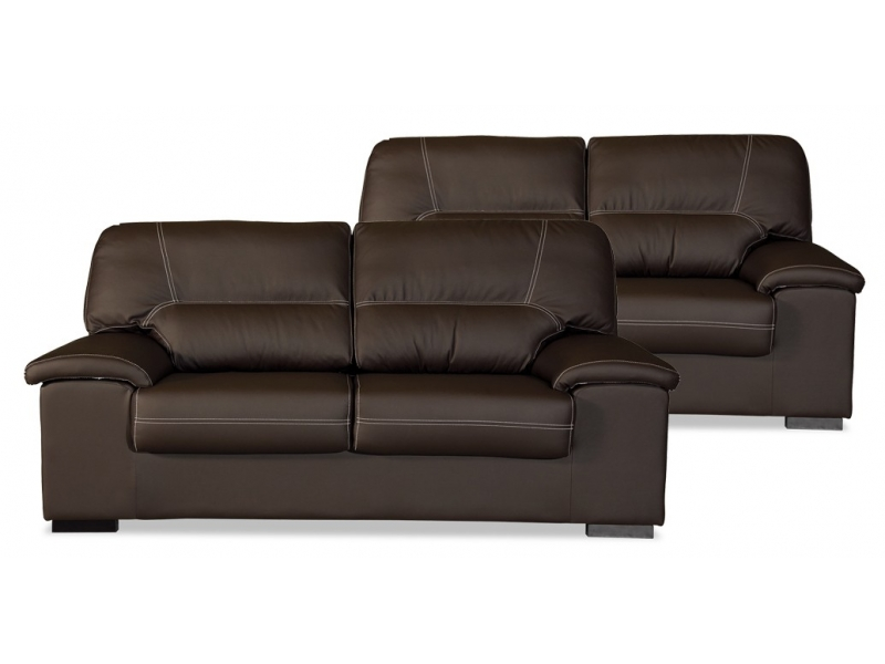Conjunto sof s premium 3 2 plazas piel sint tica artesanal - Sofas de piel ...