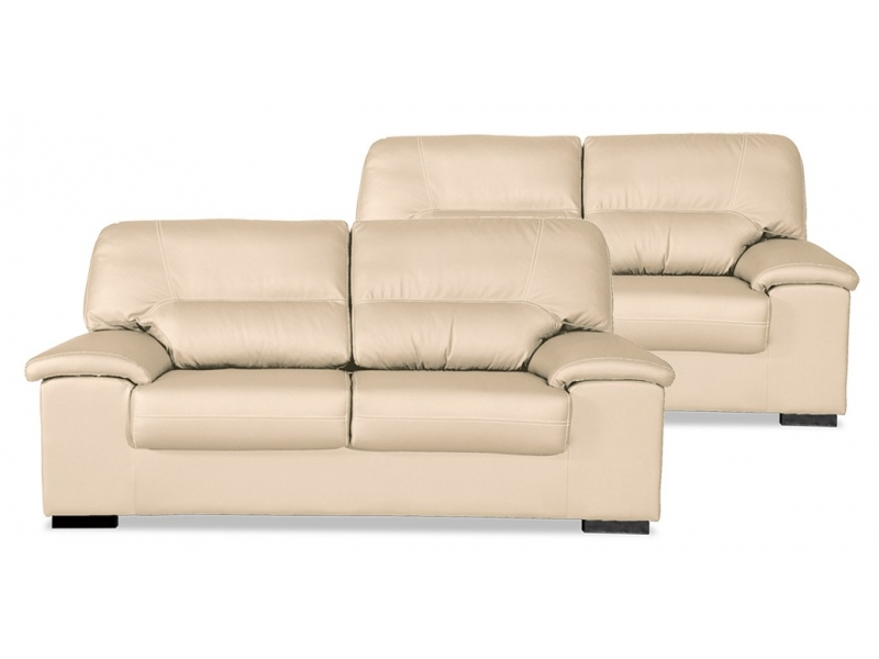 Conjunto sof s premium 3 2 plazas piel sint tica artesanal for Sofas de 3 plazas